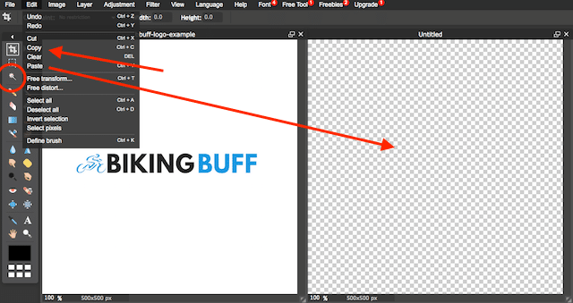 making free canva logo file transparent with pilxr editor
