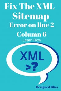 fix-xml-sitemap-error-line-2-pin