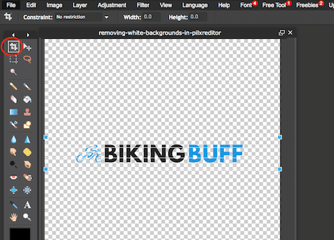 cropping your free canva transparent logo
