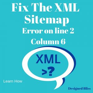fix sitemap error