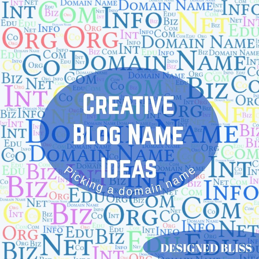 creative blog name ideas