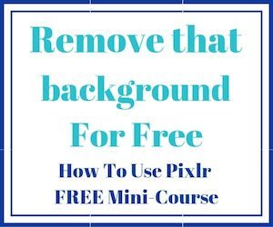 pixlr remove background free course
