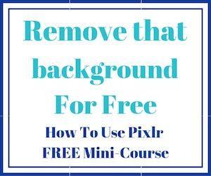pixlr remove background free course