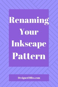 how to rename an inkscape pattern
